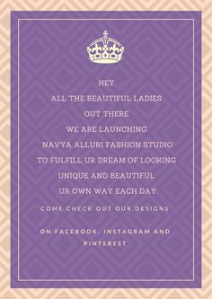 Navya Alluri Fashion Studio Fashion Studio, Product Launch, Beautiful Women, Day, Instagram, Design, Beauty Women, Fine Women
