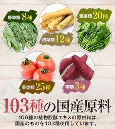 106種の国産原料