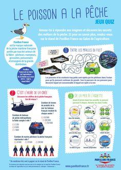 Le poisson à la pêche. Paris mômes - Pavillon France. Solutions ici: http://www.parismomes.fr/media/files/quiz_peche_reponses.pdf