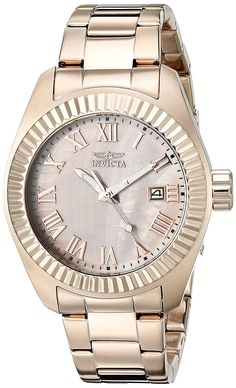 Invicta Women's 20317SYB Angel Rose Gold-Tone Stainless Steel Watch -- For more information, visit image link.