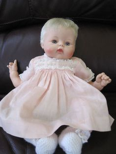 """Madame Alexander """"Lively Kitten"""" Baby Doll from 1961 14 inches"""