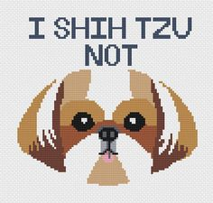Instantly downloadable cross stitch pattern! This cross stitch pattern is the perfect gift or personal project for the shih tzu lover! Or even for a dog lover, this cross stitch pattern is sure to instill smiles in anyone who receives it as a gift or just works on it in their