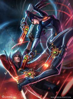 Bayonetta vs Dante by *ReiQuintero