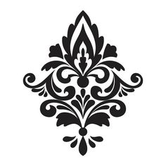 stencil damask design 4 1 flourish scroll wall stencil image is