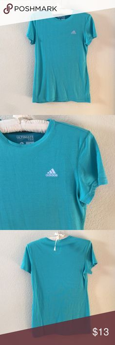 "Adidas Ultimate Tee Teal adidas tee in a size S. ""The Ultimate Tee"". Very excellent condition! Feel free to ask any questions! Adidas Tops Tees - Short Sleeve"