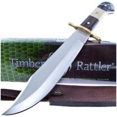 Timber Rattler TR87 Ranch King Giant Bowie Knife w/ Sheath | MooseCreekGear.com | Outdoor Gear — Worldwide Delivery! | Pocket Knives - Fixed Blade Knives - Folding Knives - Survival Gear - Tactical Gear