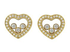Chopard 'Happy Diamond' Earrings in 18K Gold