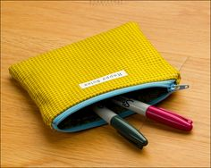 Houndstooth Deluxe Zipper Pouch by Happy Solez