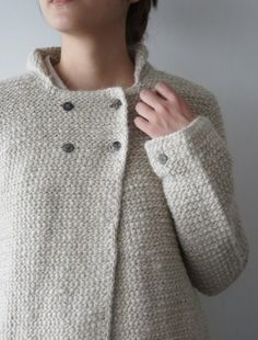 Watch This Video Beauteous Finished Make Crochet Look Like Knitting (the Waistcoat Stitch) Ideas. Amazing Make Crochet Look Like Knitting (the Waistcoat Stitch) Ideas. Crochet Coat, Crochet Jacket, Crochet Clothes, Tunisian Crochet Patterns, Crochet Stitches, White Casual, Casual Sweaters, Pulls, Knitwear