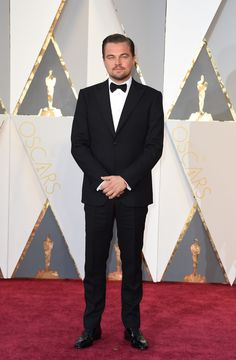 Leonardo DiCaprio in a Giorgio Armani suit and Christian Louboutin shoes