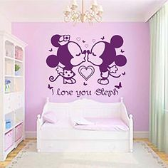Quotes Wall Decals Mickey Mouse Decal Vinyl Stickers Baby Nursery Bedroom Room Decor Home Playroom Window Murals Ah14 * Read more  at the image link. This is an affiliate link.