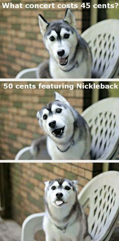 What concert costs only 45 cents... 50 cents featuring Nickelback