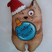 Куклы и игрушки ручной работы. Ярмарка Мастеров - ручная работа Кофейный котик. Handmade.