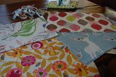 laminated fabric wipeable placemats - we made them for each season over at #paintcutpaste.com
