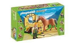 Amazon.com: PLAYMOBIL Work Horse with Stall Play Set: Toys & Games