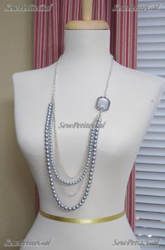 SewPetiteGal: More DIY Pearl Necklaces :)
