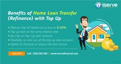 Balance Transfer (refinance) your home loan and take a top up at the same rate of interest. Rate starts at 8.50%. Compare offers now or call/SMS 7668900900 for assistance.
