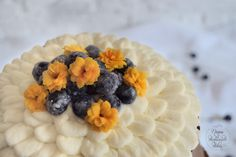 Top Blueberry Cake