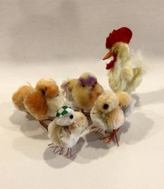 Vintage Easter Chicks Chenille Pompom Chicks by VintagePrairieHome