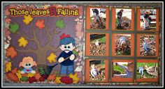 treasureboxdesignteam: Those Leaves R Falling Scrapbooking Layouts, Scrapbook Cards, Treasure Boxes, Page Layout, Box Design, Fall Halloween, Autumn Leaves, Clip Art, Memories