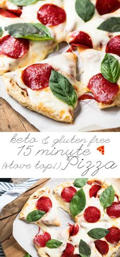 Gluten Free, Dairy Free & Keto Stove Top Pizza Crust  #keto #ketorecipes #lowcarb #dairyfree #glutenfree #pizza #healthyrecipes