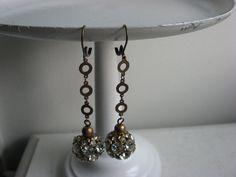 Multi stones shoulder dusty rhinestone earrings by 2007musarra, $89.99 Vintage Headbands, Vintage Bracelet, Rhinestone Earrings, Stones, Shoulder, Bracelets, Decor, Bangles, Decorating