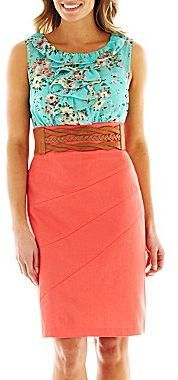 jcpenney Alyx® Ruffled Floral Belted Two-Tone Dress on shopstyle.com Retro Summer, Spring Wear, Belted Dress, Dress Skirt, Easter Dress, Ruffle Sleeve, Spring Dresses, Cute Dresses, Beautiful Dresses