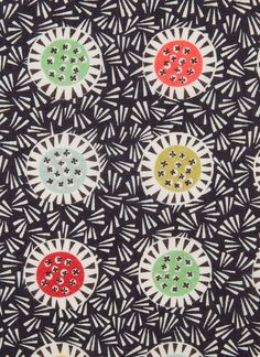 Winter Thistle by Angie Lewin for Liberty