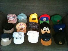 Personal collection 5 Panel Cap, Snapback, Hats, Collection, Fashion, Moda, Hat, Fashion Styles, Fashion Illustrations