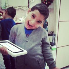 con il primo tablet