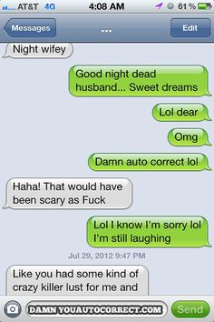 Autocorrect fail - Good night - http://jokideo.com/autocorrect-fail-good-night-2/