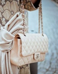 chanel baby pink bag- How to style your Chanel bags http://www.justtrendygirls.com/how-to-style-your-chanel-bags/