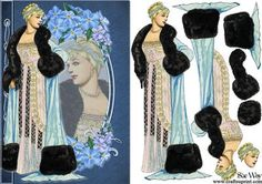 Victorian Gown and Furs Fashion Reflections Decoupage