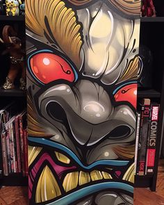 """18"""" x 36"""" acrylic and spray paint on gallery-wrapped Canvas. This is a one of one, original piece made by David Tevenal. Will ship boxed ..."""