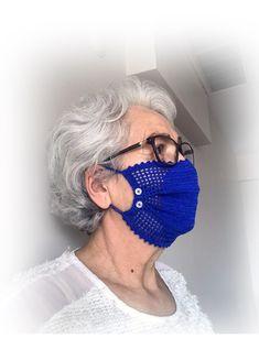Crochet Mask, Crochet Faces, Bead Crochet, Cute Crochet, Crochet Necklace Pattern, Crochet Headband Pattern, Crochet Patterns, Diy Face Mask, Face Masks