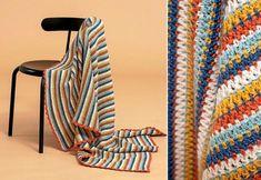 Virka en gladrandig filt – beskrivning | Land Land, Blanket, Sewing, Crochet, Dressmaking, Couture, Stitching, Ganchillo, Blankets