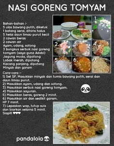 N gireng tom yam Spicy Dishes, Food Dishes, Yellow Rice Recipes, Pastry Cook, Diet Recipes, Cooking Recipes, Malay Food, Low Calorie Dinners, Nasi Goreng