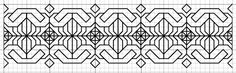 free blackwork border pattern