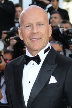 Bruce Willis-  Men With Shaved Heads Appear More Dominant, Study Finds