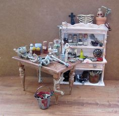 Miniature Bone Collector 3 Piece Set~1:12th Scale | Flickr - Photo Sharing!