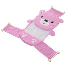 KC Baby Bath Seat Support Sling Shower Mesh Bathing CradleStage Newborn to Toddler Baby Bathlitter bearpink -- You can find out more details at the link of the image.-It is an affiliate link to Amazon.