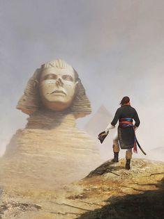 Bonaparte standing before the Sphinx of Egypt, by John McCambridge.