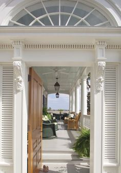 behind the door is a fabulous porch!