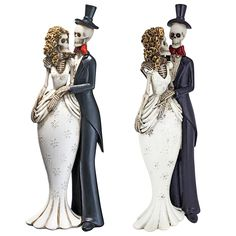 Design Toscano Skeleton Bride & Groom Statues: Set of Two