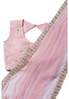 The Peach Project-Pink Princess Sari Shop this gorgeous elegant piece online. #thepeachproject #bridesmaids #pink #sari #pinksari #gotawork #sexyblouse #sariblouse #desiweddings #desibridesmaids