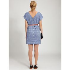 Buy Toast Riva Chambray Stripe Dress, Chambray, 12 Online at johnlewis.com