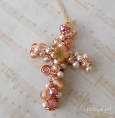 "3"" Beaded Wire Cross"