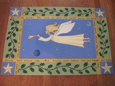 Angel floor cloth