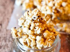 Vanilla Cake Batter and White Chocolate Chip Caramel Corn (With Vegan and Gluten Free Suggestions)