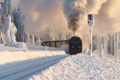 Winter train by Betty Weinberger on 500px